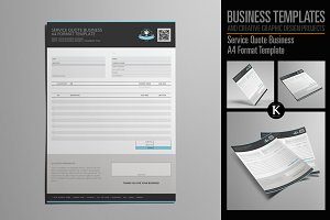 Service Quote Business A4 Format