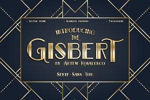 GISBERT font + vector background