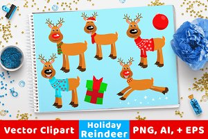 Holiday / Christmas Reindeer Clipart