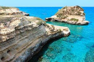 Salento sea coast, Italy