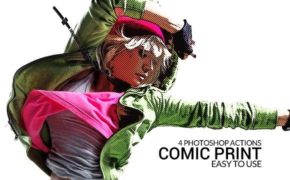 Comic Print Actions