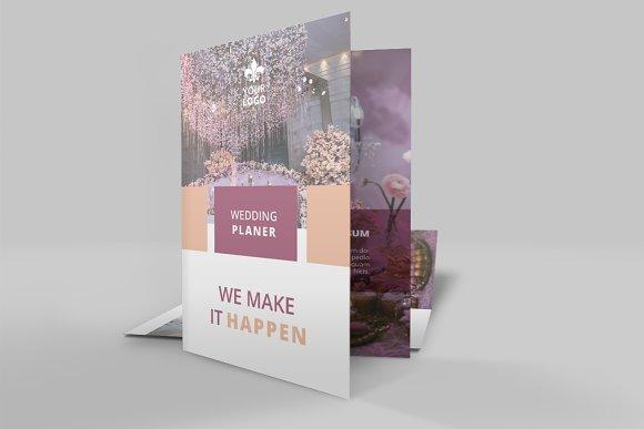 wedding service bi fold brochure brochure templates creative market