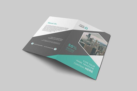 Business Bi Fold Brochure Brochure Templates Creative Market - Double fold brochure template