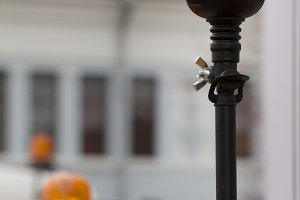 Orange flasher standing outdoor