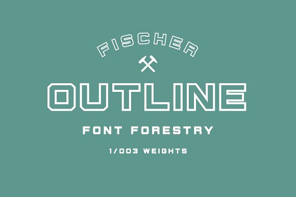 Fischer - An Industrial Typeface in Display Fonts - product preview 4