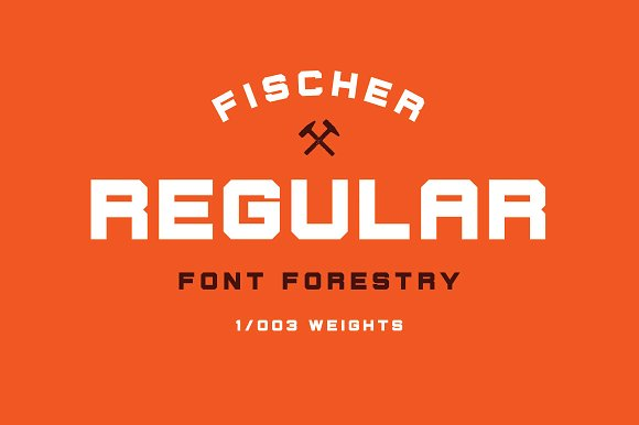 Fischer - An Industrial Typeface in Display Fonts - product preview 5