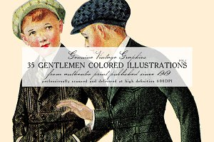 35 Gentlemen Colored Illustrations 1