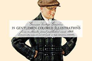 35 Gentlemen Colored Illustrations 2