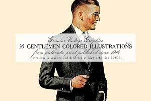 35 Gentlemen Colored Illustrations 3