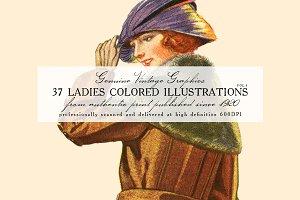 37 Ladies Colored Illustrations 4