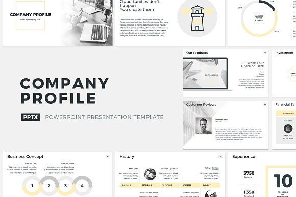 Company profile powerpoint presentation templates creative market toneelgroepblik Image collections