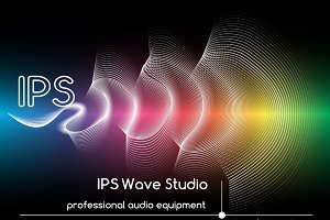 Abstract sound waves background