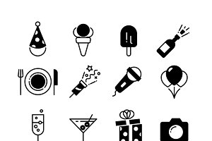 Party and wedding event icons