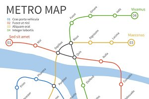 Metro subway train map