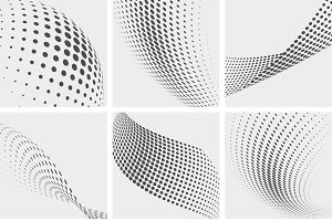 Halftone dots abstract backgrounds