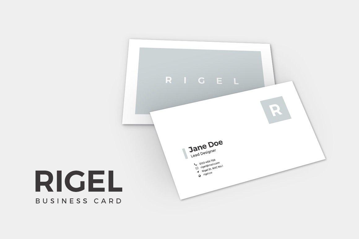 Slidestation creative market rigel business card template alramifo Image collections