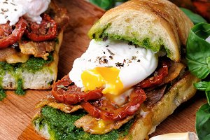 Ciabatta with poached egg
