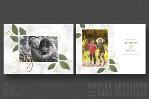 Christmas Card | Marbled Garland