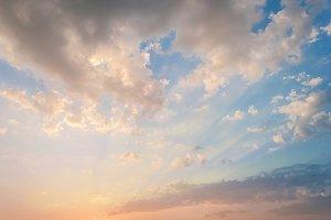 Sunset. Instant Photo