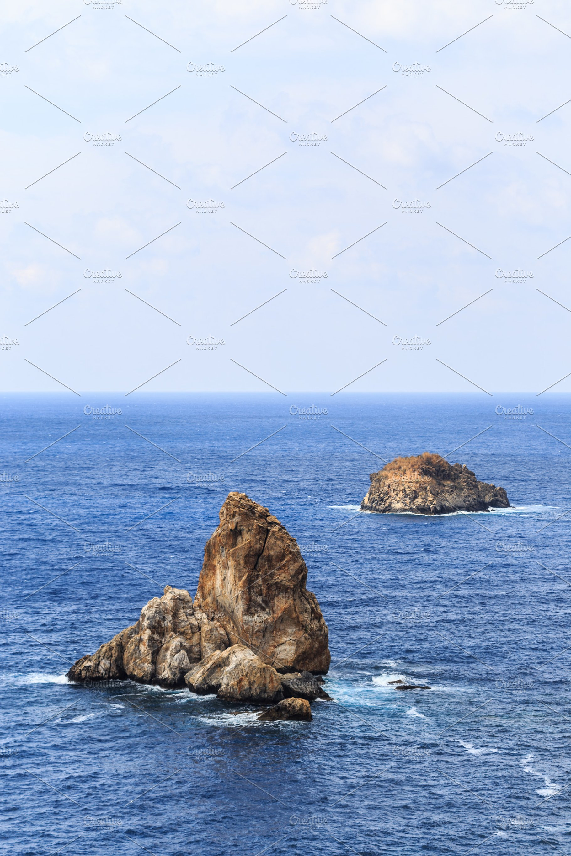 Seascape With Rocks In The Water