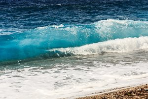 Closeup of beautiful wave