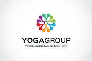 Yoga Group Logo Template