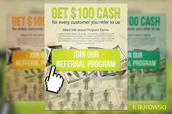 join referral flyer flyer templates creative market