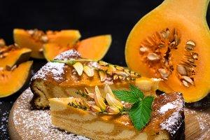 pieces of pumpkin pie