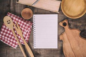 empty white notebook