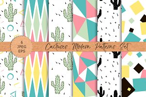 CACTUSES modern patterns set