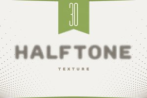 30 vector halftone set
