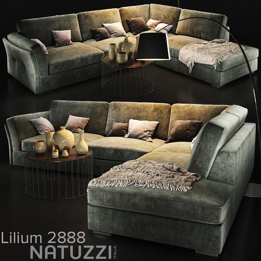 Sofa Natuzzi Lilium Furniture Models Creative Market