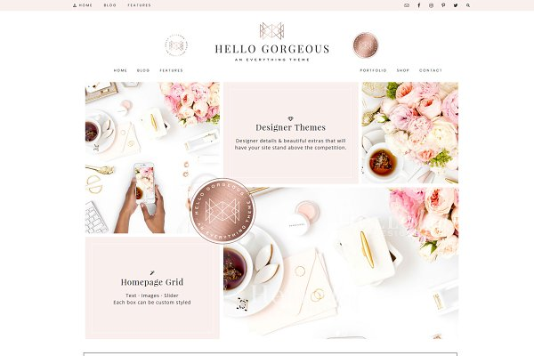 WordPress Business Themes: Hello You Designs - Hello Gorgeous Wordpress Genesis