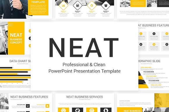 Neat PowerPoint Template Presentation Templates Creative Market