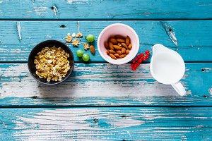 Healthy breakfast preparation