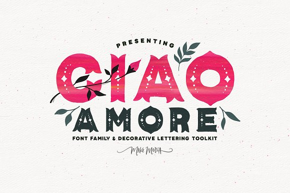 Ciao Amore Decorative Font Kit Illustrations Creative Market