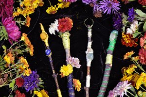 Magic wands in flowers