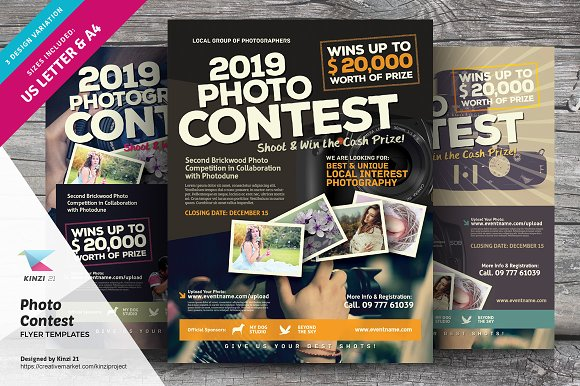 photo contest flyer templates flyer templates creative market