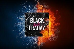 Black friday sale advertising banner.