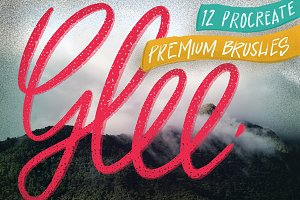 'Glee' Procreate premium brush set