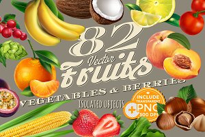 82 Fruits, Berries and Vegetables