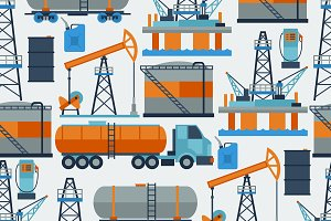 Oil industrial seamless patterns.