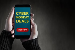 Cyber Monday Promotional on Mobile