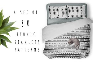 80 seamless ethnic patterns