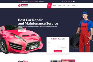 Tinker – Car Repair & eCommerce HTML