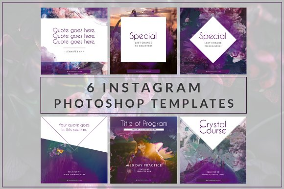 Instagram Branded Templates Vol. 4