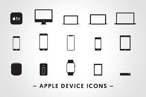 Apple Device Icons - Vectors