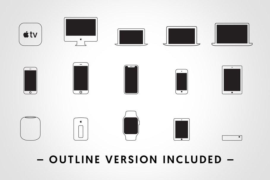 Apple Device Icons - Vectors ~ Graphics ~ Creative Market