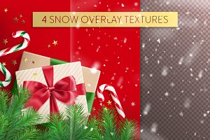 4 snow overlay textures