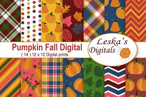 Fall Autumn Digital Papers
